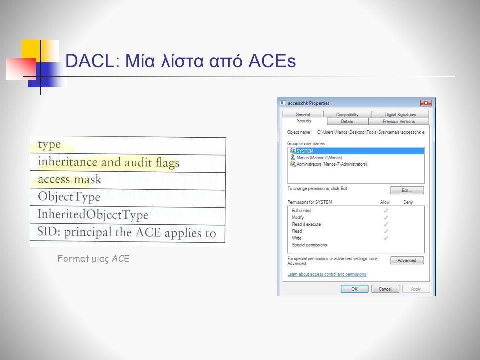 Format μιας ACE