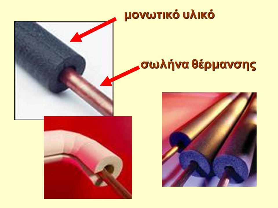 σωλήνα θέρμανσης μονωτικό υλικό