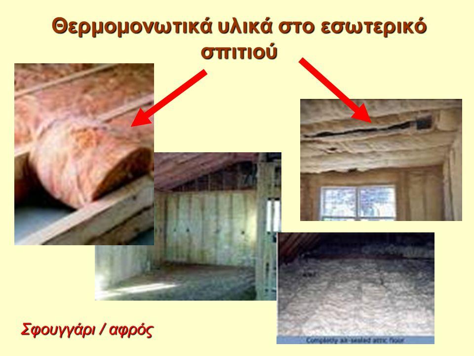 Θερμομονωτικά υλικά στο εσωτερικό σπιτιού Σφουγγάρι / αφρός