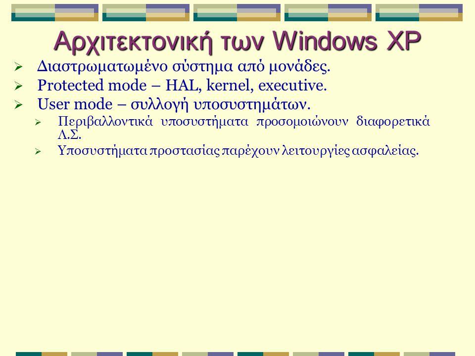 Χαρακτηριστικά αρχείων  Αριθμός αναφοράς αρχείου (64 bits).