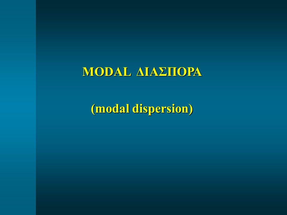 MODAL ΔΙΑΣΠΟΡΑ (modal dispersion)