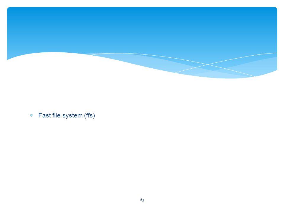 63  Fast file system (ffs)