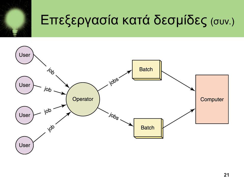21 Επεξεργασία κατά δεσμίδες (συν.)