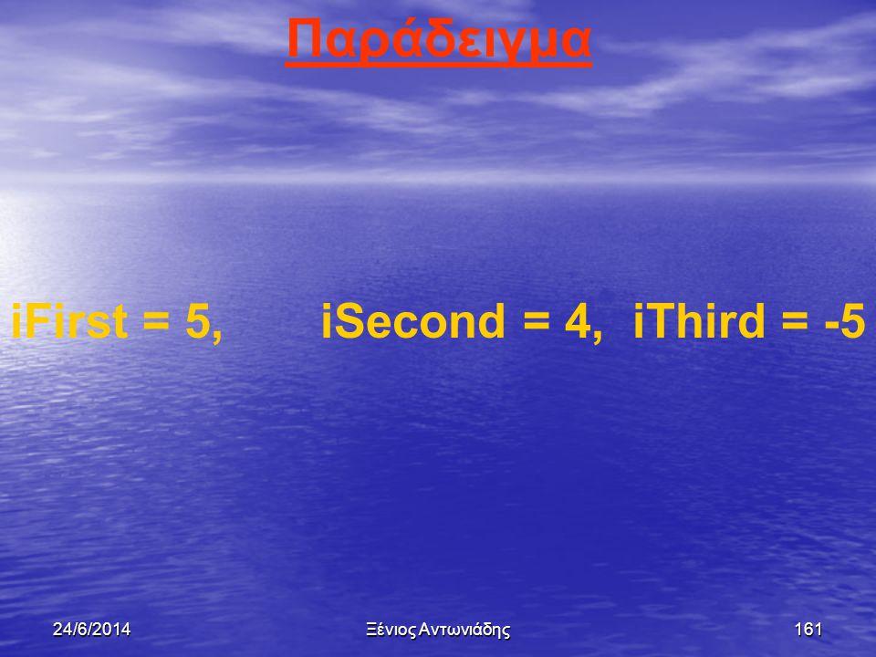 24/6/2014Ξένιος Αντωνιάδης160 Τελεστές σύγκρισης (συνέχεια)   = Ίσο με   > Μεγαλύτερο από   < Μικρότερο από   <= Μικρότερο ή ίσο με   >= Μεγ