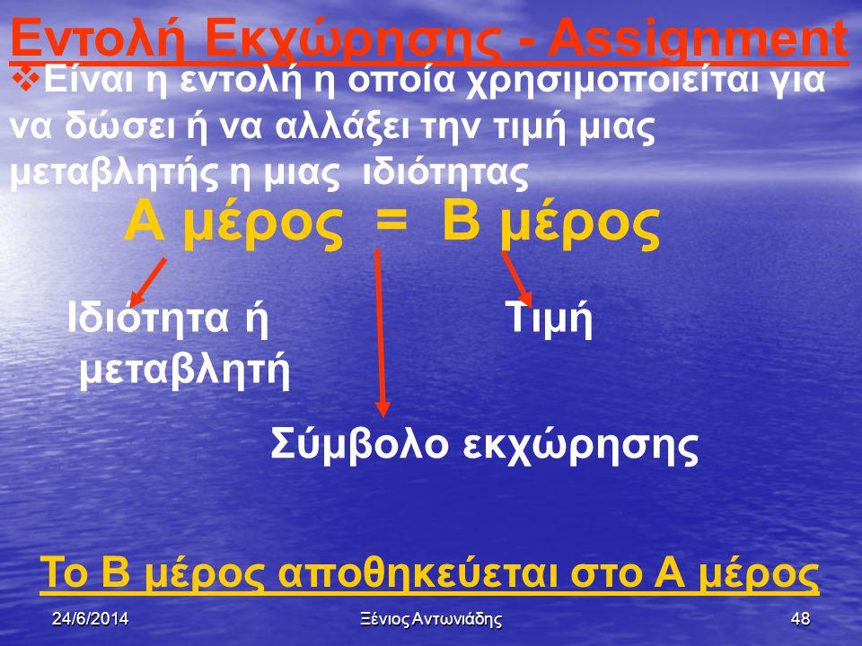 24/6/2014Ξένιος Αντωνιάδης47 Απόδοση τιμής