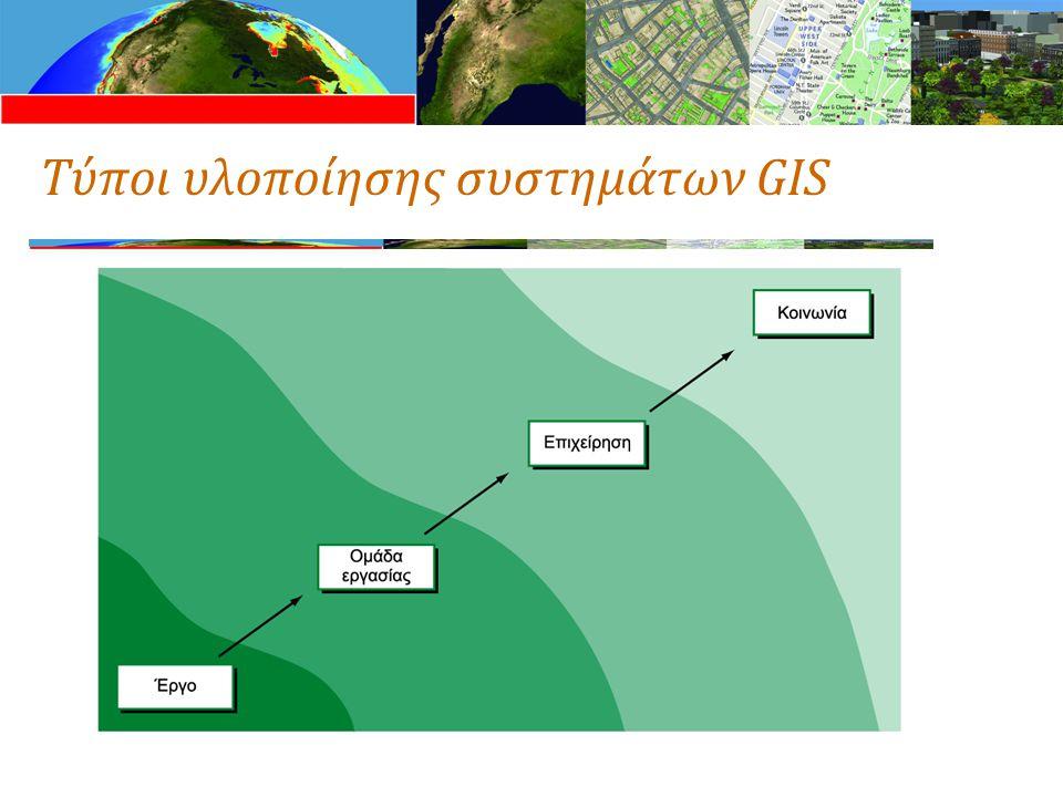 Τύποι υλοποίησης συστημάτων GIS