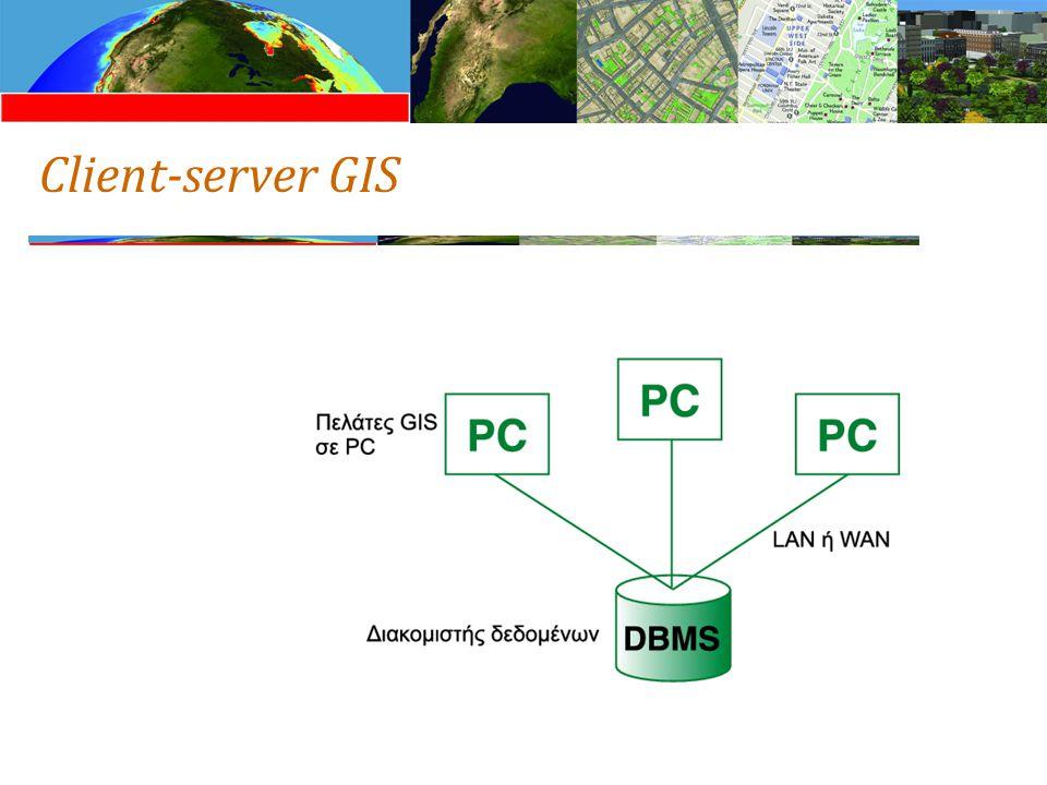 Client-server GIS