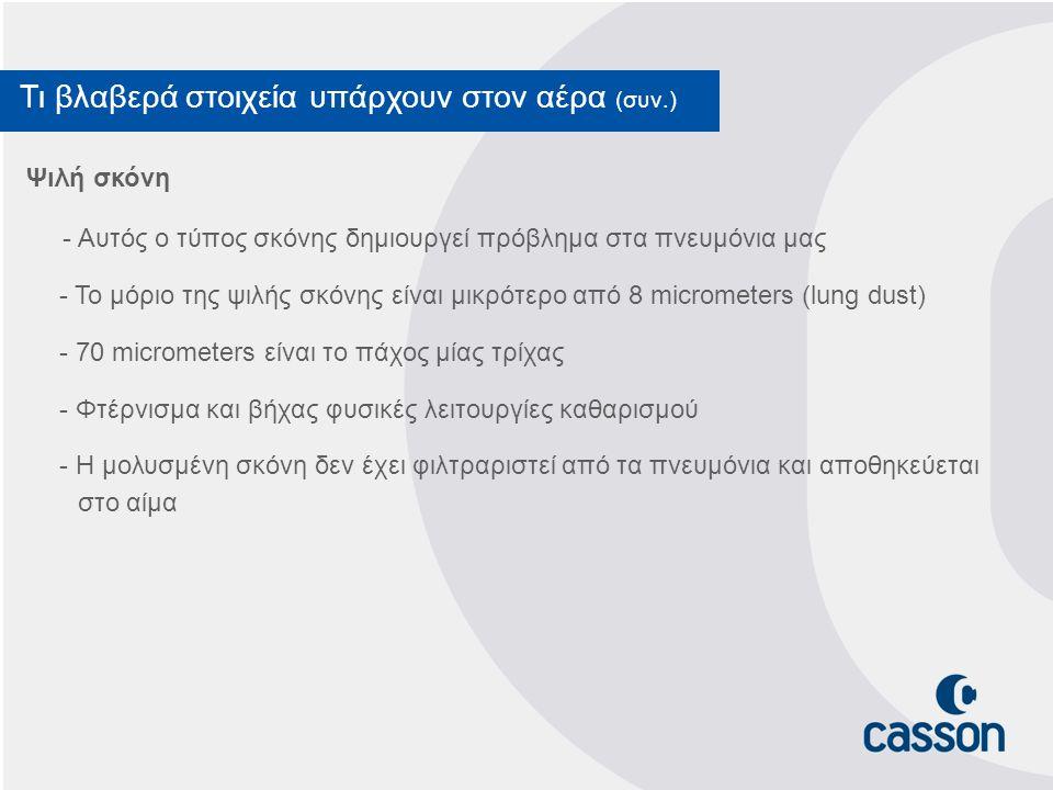Ποια τα πλεονεκτήματα του Casadron Το σύστημα Casadron έχει πολλαπλά πλεονεκτήματα συγκριτικά με άλλα φίλτρα.