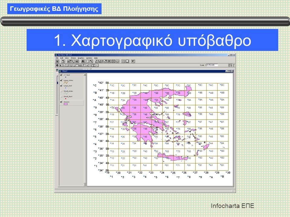 Γεωγραφικές ΒΔ Πλοήγησης Infocharta ΕΠΕ 1. Χαρτογραφικό υπόβαθρο