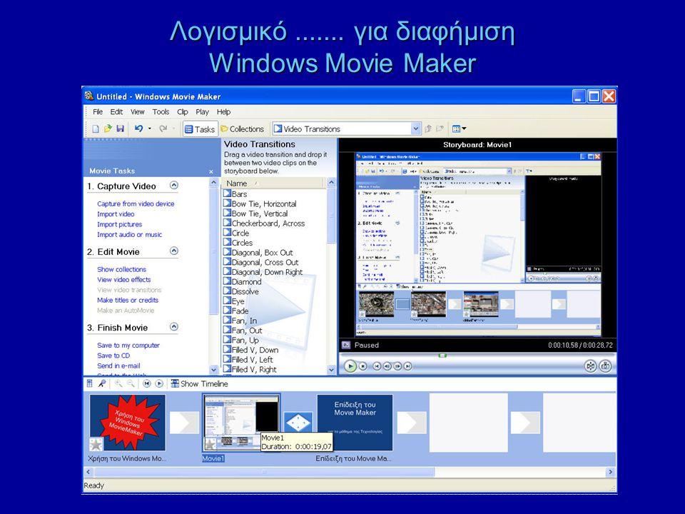 Λογισμικό....... για διαφήμιση Windows Movie Maker