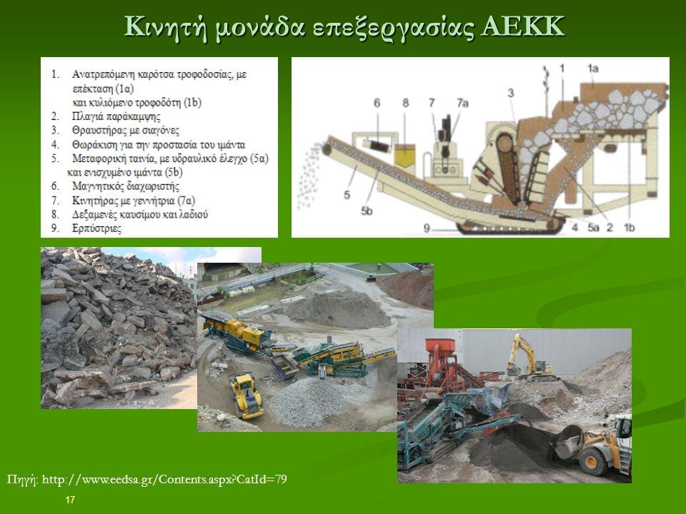 17 Κινητή μονάδα επεξεργασίας ΑΕΚΚ Πηγή: http://www.eedsa.gr/Contents.aspx?CatId=79