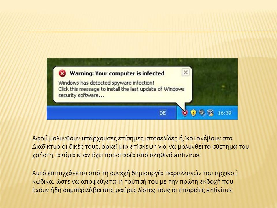 .Χρησιμοποιείτε antivirus από αξιόπιστους δημιουργούς 2.