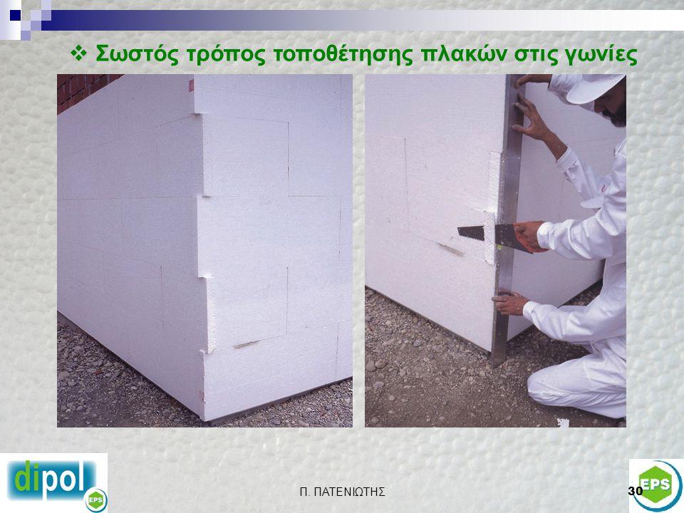 Π. ΠΑΤΕΝΙΩΤΗΣ29  Λανθασμένος τρόπος τοποθέτησης και αγκύρωσης θερμομονωτικών πλακών