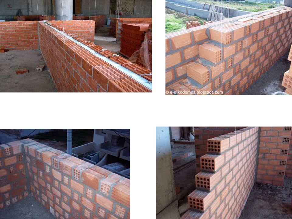 Πώς χτίζονται οι τοίχοι; • Οι τοίχοι κατοικίας κτίζονταν στο παρελθόν με πέτρες (λιθοδομή).Σήμερα η πέτρα χρησιμοποιείται κυρίως για διακοσμητικούς λόγους, σε επενδύσεις των τοίχων.