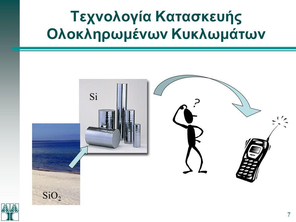 7 Τεχνολογία Κατασκευής Ολοκληρωμένων Κυκλωμάτων SiO 2 Si