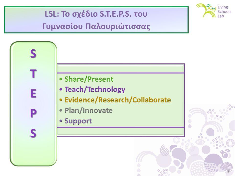 3 LSL: Το σχέδιο S.T.E.P.S. του Γυμνασίου Παλουριώτισσας STEPS
