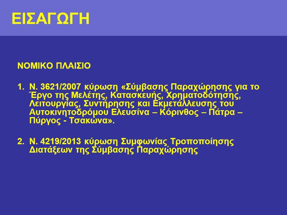 ΣΥΜΠΛΗΡΩΜΑΤΙΚΕΣ ΑΠΑΛΛΟΤΡΙΩΣΕΙΣ •Μεγάλη σημασία του έργου για την οικονομία και ανάπτυξη της Δυτικής Ελλάδας •Στενά χρονικών περιθωρίων για την ολοκλήρωση της κατασκευής Σκοπός: επίσπευση της διαδικασίας κατάληψης των αναγκαίων απαλλοτριωμένων εκτάσεων από το Δημόσιο με την έναρξη των εργασιών και εφόσον δεν έχουν συντελεστεί μέχρι τότε.