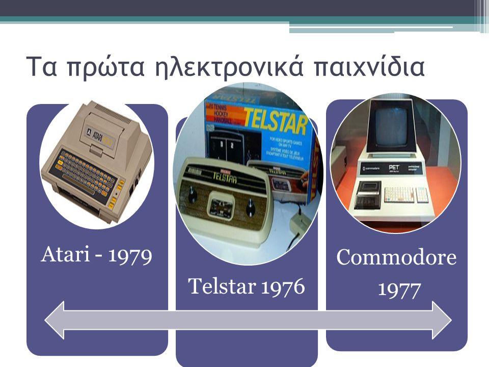 Τα πρώτα ηλεκτρονικά παιχνίδια Atari - 1979 Telstar 1976 Commodore 1977