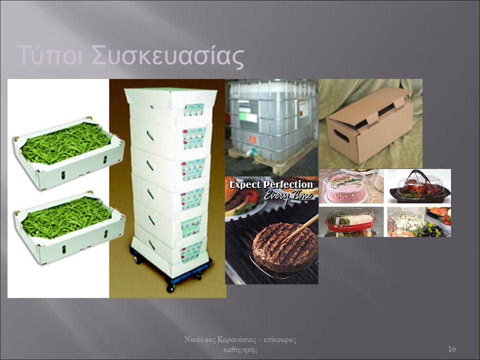 Τύποι Συσκευασίας 16 Νικόλαος Καρανάσιος - επίκουρος καθηγητής