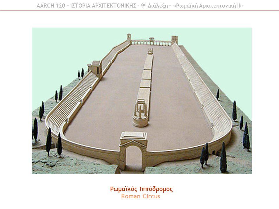 Ρωμαϊκός Ιππόδρομος Roman Circus AARCH 120 – ΙΣΤΟΡΙΑ ΑΡΧΙΤΕΚΤΟΝΙΚΗΣ – 9 η Διάλεξη – «Ρωμαϊκή Αρχιτεκτονική ΙI»