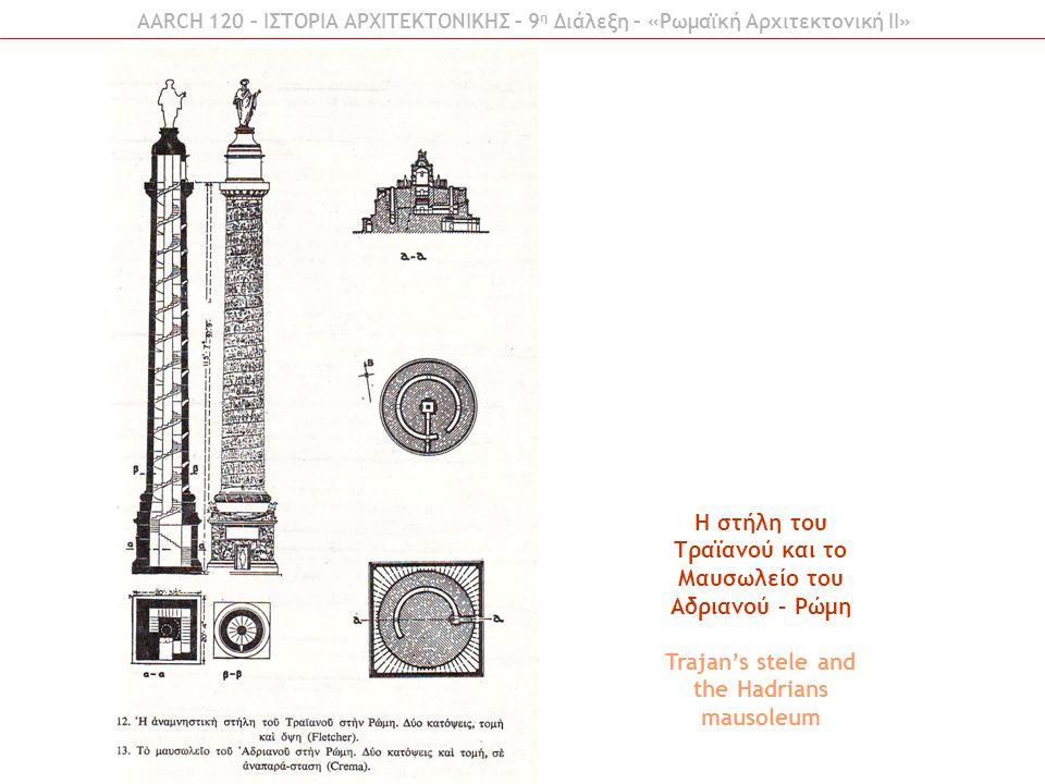 Η στήλη του Τραϊανού και το Μαυσωλείο του Αδριανού – Ρώμη Trajan's stele and the Hadrians mausoleum AARCH 120 – ΙΣΤΟΡΙΑ ΑΡΧΙΤΕΚΤΟΝΙΚΗΣ – 9 η Διάλεξη – «Ρωμαϊκή Αρχιτεκτονική ΙI»