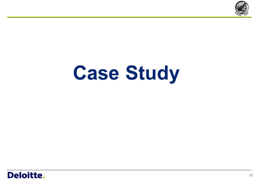 13 Case Study