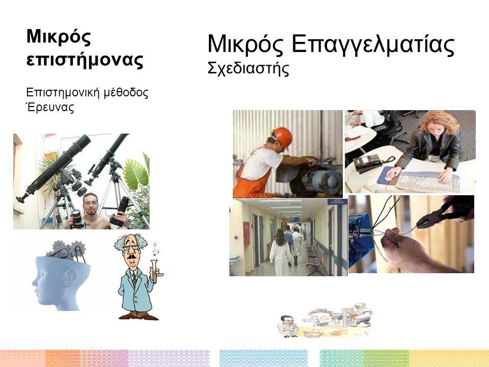 Μικρός επιστήμονας Επιστημονική μέθοδος Έρευνας Μικρός Επαγγελματίας Σχεδιαστής