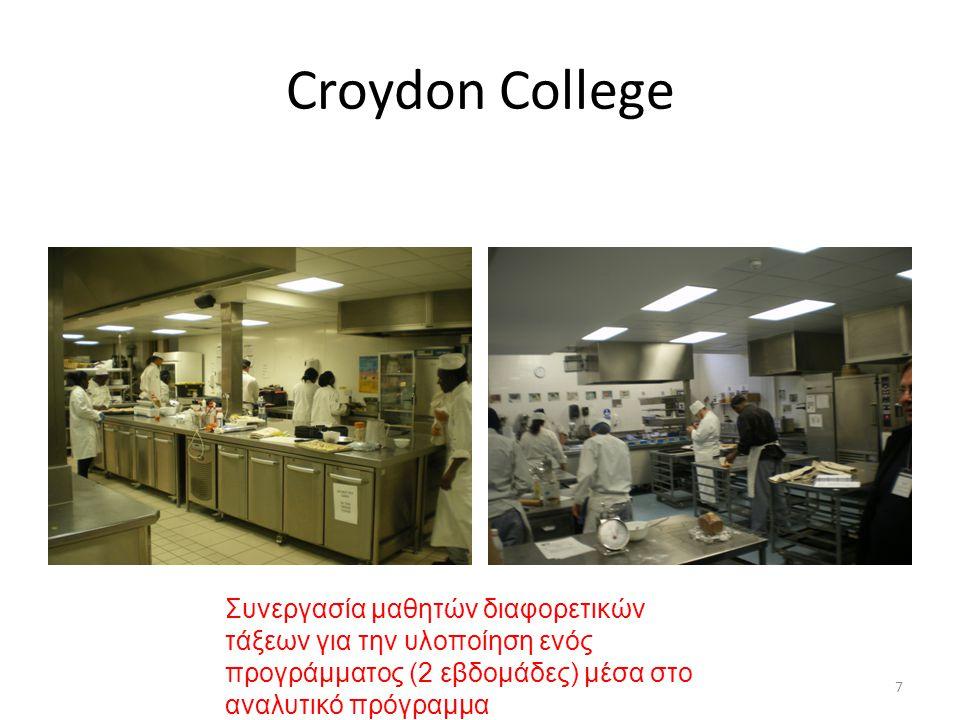 7 Croydon College Συνεργασία μαθητών διαφορετικών τάξεων για την υλοποίηση ενός προγράμματος (2 εβδομάδες) μέσα στο αναλυτικό πρόγραμμα