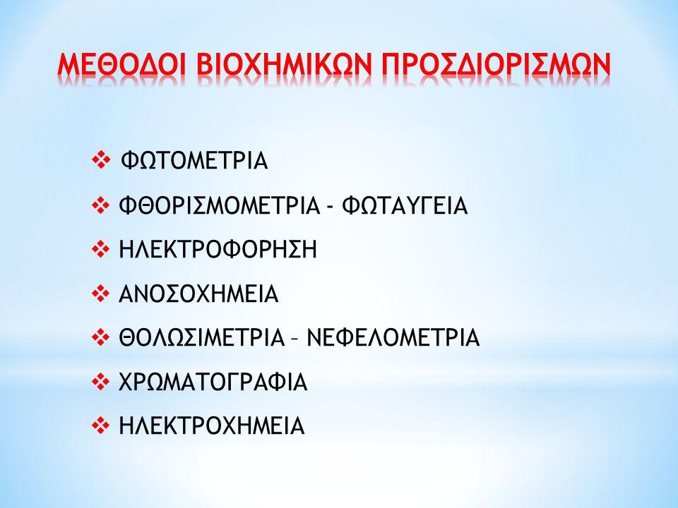 ΦΑΣΜΑΤΟΦΩΤΟΜΕΤΡΙΑ ΑΤΟΜΙΚΗΣ ΑΠΟΡΡΟΦΗΣΗΣ (ΦΑΑ)  Η φλόγα / φούρνος γραφίτη δίνει θερμική ενέργεια στο δείγμα (μετά από εξαέρωση)  Διασπώνται οι χημικοί δεσμοί του μετάλλου (ατομοποίηση)  Βρίσκεται σε σταθερή μη διεγερμένη ενεργειακή κατάσταση  Τα άτομα του στοιχείου απορροφούν ακτινοβολία από καθοδική λυχνία στοιχείου ίδιου με το υπό εξέταση  Α = σταθερή C = εxC, όπου χ=μήκος καυστήρα