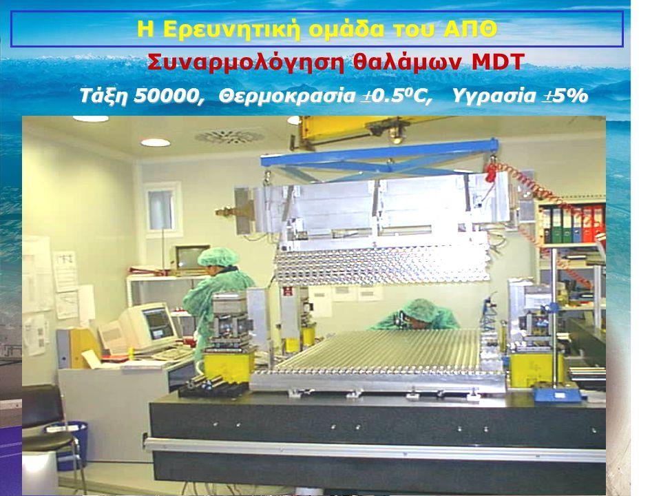 10 Η Ερευνητική ομάδα του ΑΠΘ Συναρμολόγηση θαλάμων MDT Τάξη 50000, Θερμοκρασία 0.5 0 C, Υγρασία 5%