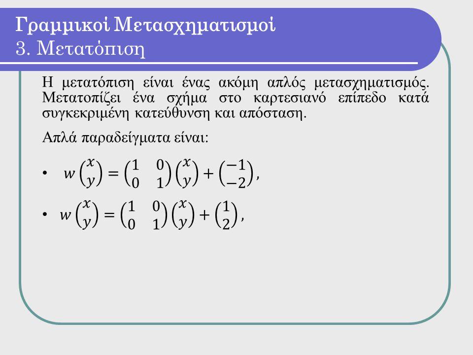 Γραμμικοί Μετασχηματισμοί 3. Μετατόπιση