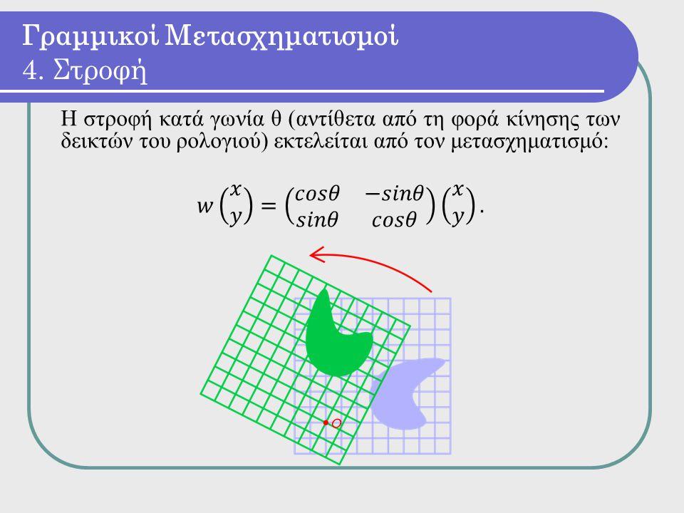 Γραμμικοί Μετασχηματισμοί 4. Στροφή