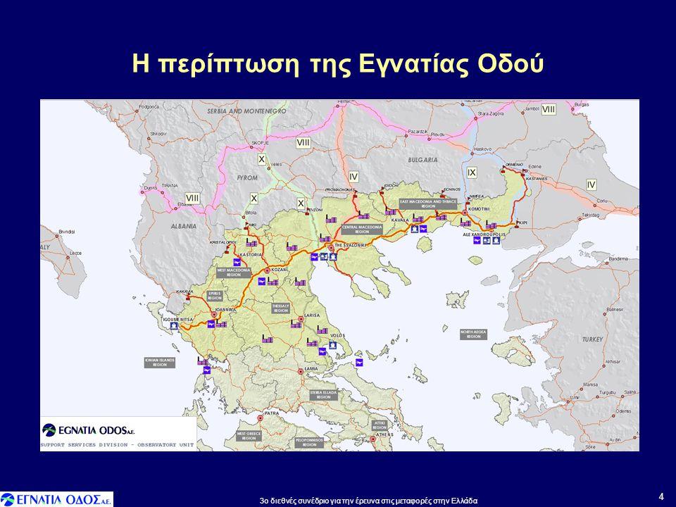 Η περίπτωση της Εγνατίας Οδού 4 3o διεθνές συνέδριο για την έρευνα στις μεταφορές στην Ελλάδα