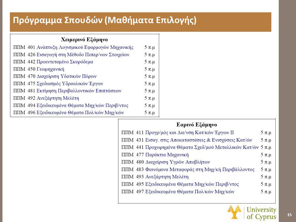 Διπλώματα Σπουδών 16  Πτυχιακό Δίπλωμα: • Πτυχίο Πολιτικών Μηχανικών και Μηχανικών Περιβάλλοντος  Μεταπτυχιακό Διπλώματα: • Μεταπτυχιακό Δίπλωμα Πολιτικών Μηχανικών (Μάστερ) • Μεταπτυχιακό Δίπλωμα Μηχανικών Περιβάλλοντος (Μάστερ) • Διδακτορικό Δίπλωμα Πολιτικών Μηχανικών • Διδακτορικό Δίπλωμα Μηχανικών Περιβάλλοντος