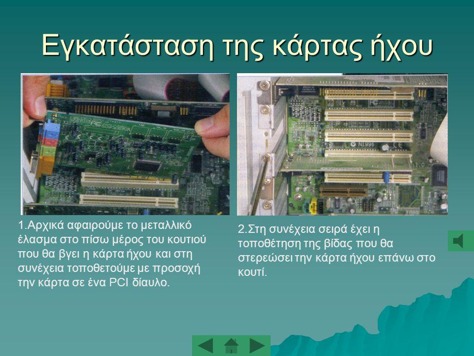 Πως φαίνεται η κάρτα γραφικών στο πίσω μέρος του κουτιού Σύνδεση οθόνης με αναλογικό τρόπο.