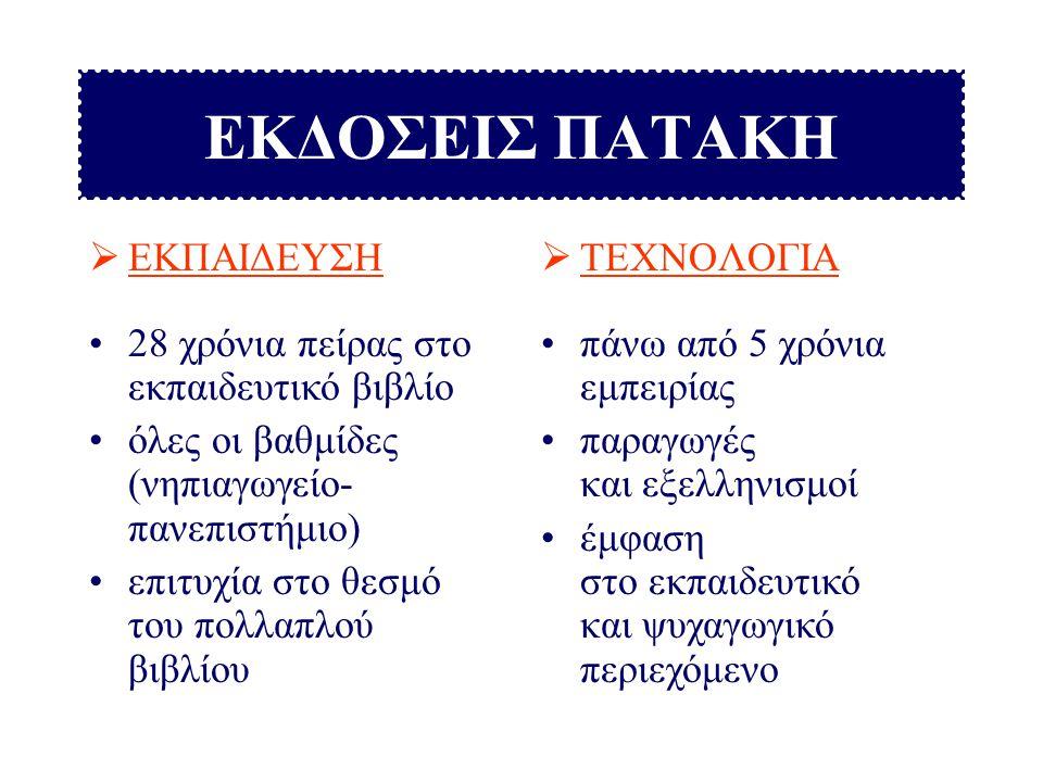ΕΚΠΑΙΔΕΥΤΙΚΟ ΛΟΓΙΣΜΙΚΟ ΤΩΝ ΕΚΔΟΣΕΩΝ ΠΑΤΑΚΗ