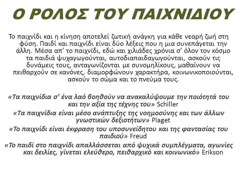 ΙΣΤΟΡΙΚΗ ΑΝΑΔΡΟΜΗ ΤΟΥ ΠΑΙΧΝΙΔΙΟΥ ΣΤΗΝ ΑΡΧΑΙΑ ΕΛΛΑΔΑ Οι αρχαίοι Έλληνες έδιναν μεγάλη σημασία στο παιχνίδι, ως μέσο αυτοαγωγής.