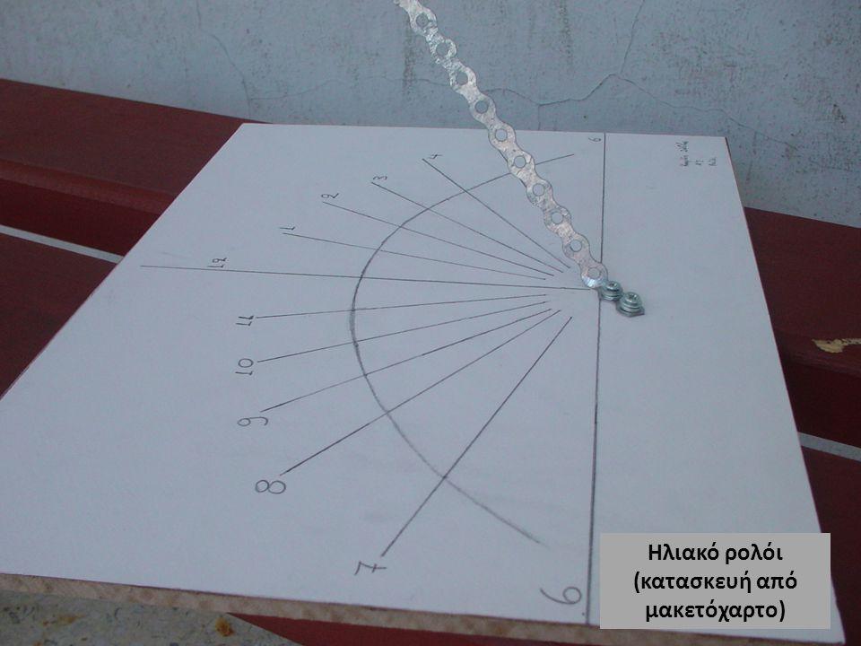 Ηλιακό ρολόι (κατασκευή από μακετόχαρτο)