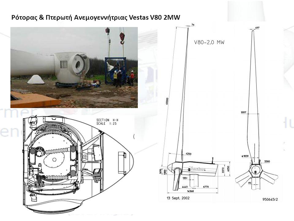 Κύριος Άξονας Ανεμογεννήτριας Vestas V80 2MW Main Shaft 1 1ΚατασκευαστήςVestas 2Υλικό Κατασκευής42CrMo4 / V / EN 10083 3Διαστάσεις 630/flange 1500/length 2690mm 4Βάρος6078 kg Front Main Bearing (nearest to the rotor) 1ΚατασκευαστήςSKF/FAG/Koyo 2Τύπος230/630 CA/W33 3Διαστάσεις920 mm/630mm x 212mm 4Βάρος485 kg Rear Main Bearing (furthest from the rotor) 1ΚατασκευαστήςSKF/FAG/Koyo 2Υλικό Κατασκευής24188 CAW33 3Διαστάσεις720mm/440mm x 280mm 4Βάρος420kg Front Main Bearing Seal 1ΚατασκευαστήςSeal Pool 2Τύπος660/700 X 20mm GVP
