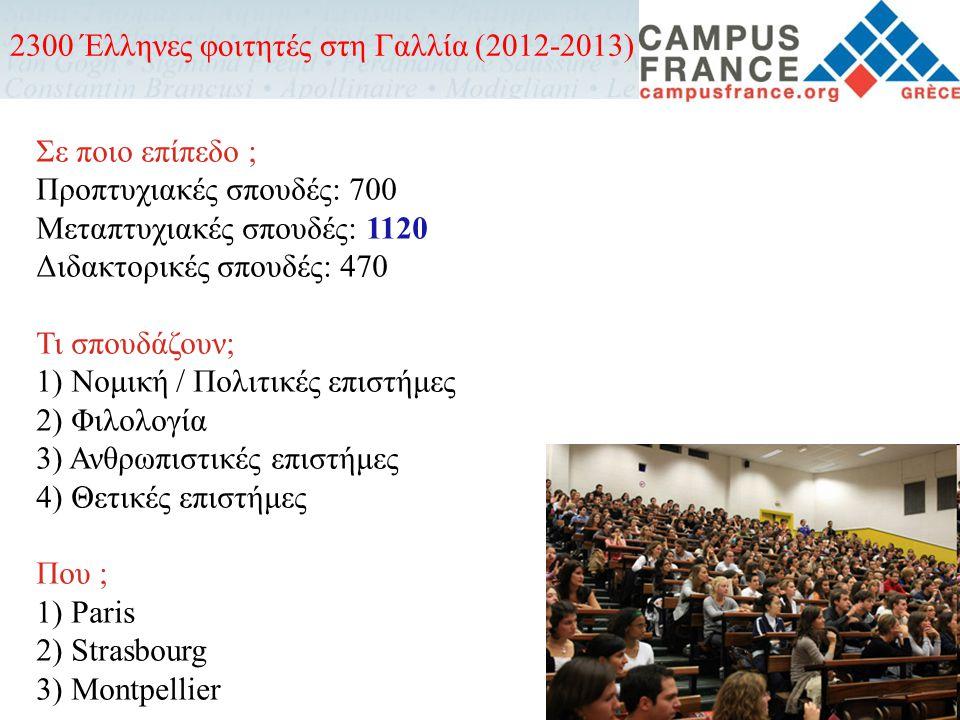 Πότε να κάνω την αίτηση; Από Μάρτιο μέχρι Ιούνιο (εκτός από τα πανεπιστήμια Paris 1 και Paris 2) Μεταπτυχιακές σπουδές