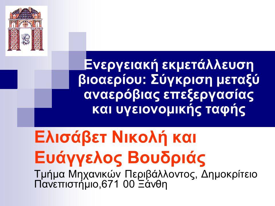 2 ΕΛΛΗΝΙΚΗ ΝΟΜΟΘΕΣΙΑ  Η Ελληνική νομοθεσία (ΚΥΑ 114218/ΦEK 1016/17-11-1997 και ΚΥΑ 29407/3508/ΦEK 1572Β/16-12-02) απαιτεί την συλλογή και καύση βιοαερίου για παραγωγή ενέργειας ή σε πυρσό.