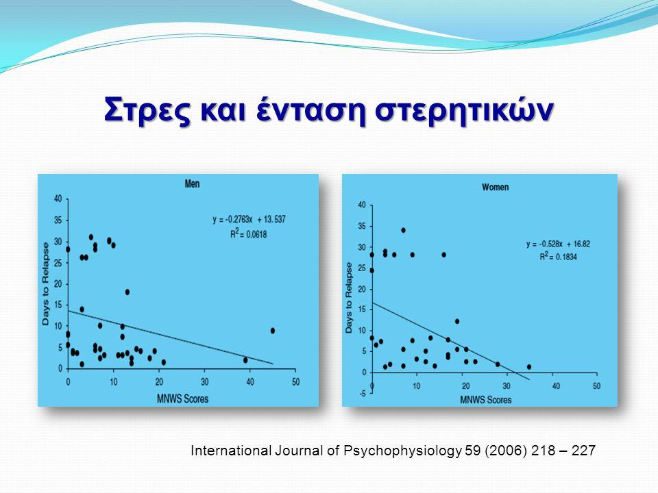 Στρες και ένταση στερητικών International Journal of Psychophysiology 59 (2006) 218 – 227