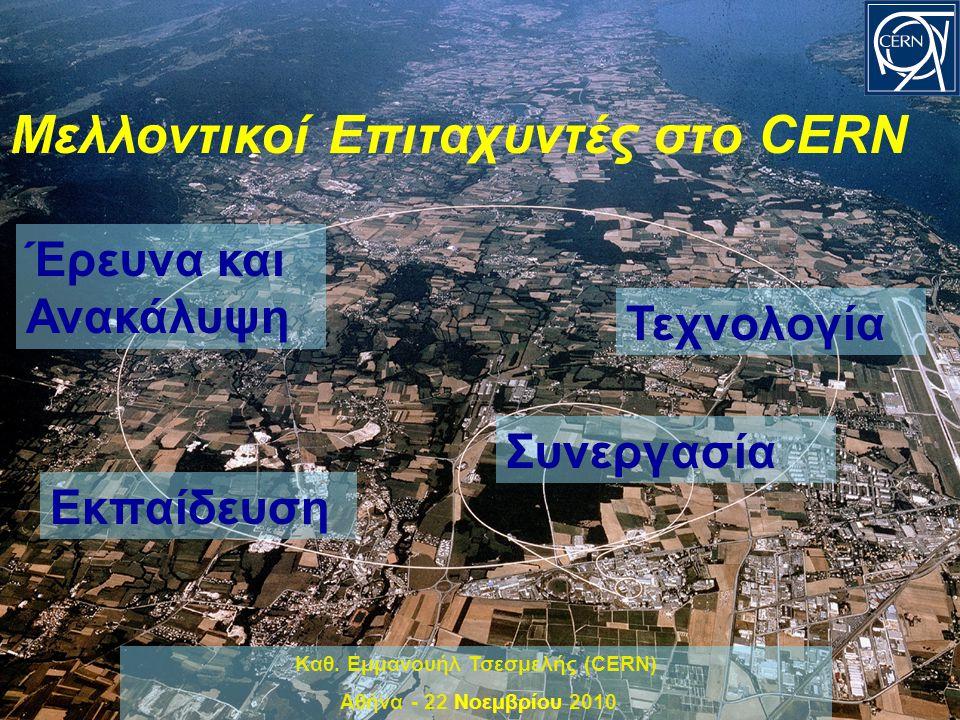 32 Η Σημερινή Ελληνική Συμμετοχή στο CLIC Ελληνικά Πανεπιστήμια: Εθνικό Μετσόβιο Πολυτεχνείο (ΕΜΠ) Πανεπιστήμιο Πατρών Δημοκρίτειο Πανεπιστήμιο Θράκης Η επιστημονική κοινότητα συνεχίζει να οικοδομεί νέα τεχνολογικά μέσα μοναδικές επιταχυντές δεσμών με σκοπό την προώθηση της τεχνολογίας και την ανακάλυψη νέων φαινομένων πέραν της λειτουργίας του Μεγάλου Αδρονικού Επιταχυντή LHC.