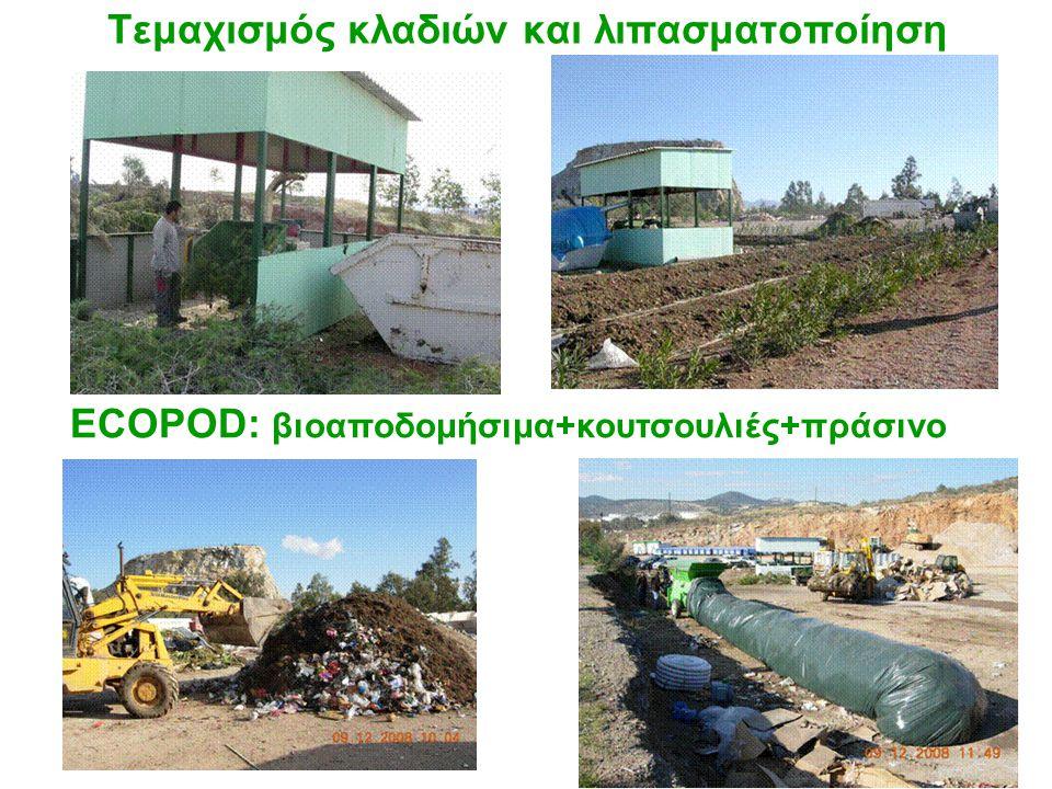 Τεμαχισμός κλαδιών και λιπασματοποίηση ECOPOD: βιοαποδομήσιμα+κουτσουλιές+πράσινο