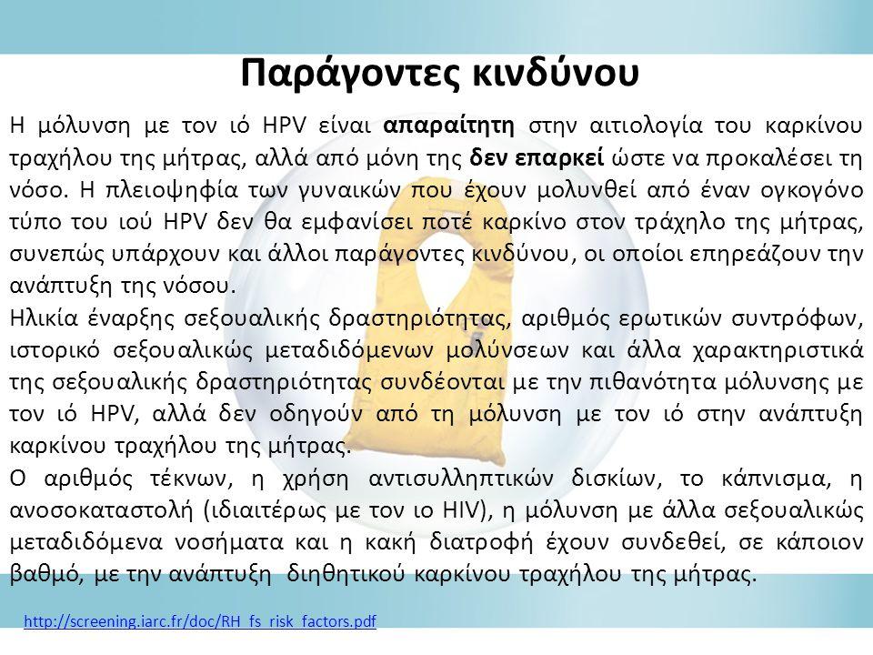 Η μόλυνση με τον ιό HPV είναι απαραίτητη στην αιτιολογία του καρκίνου τραχήλου της μήτρας, αλλά από μόνη της δεν επαρκεί ώστε να προκαλέσει τη νόσο.