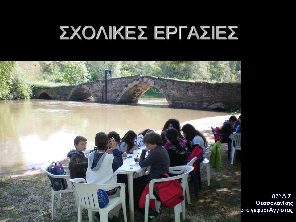 ΣΧΟΛΙΚΕΣ ΕΡΓΑΣΙΕΣ 82 ο Δ.Σ. Θεσσαλονίκης στο γεφύρι Αγγίστας