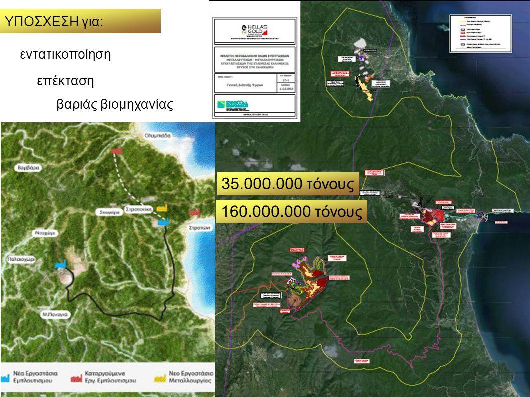 εντατικοποίηση επέκταση βαριάς βιομηχανίας 35.000.000 τόνους 160.000.000 τόνους ΥΠΟΣΧΕΣΗ για: