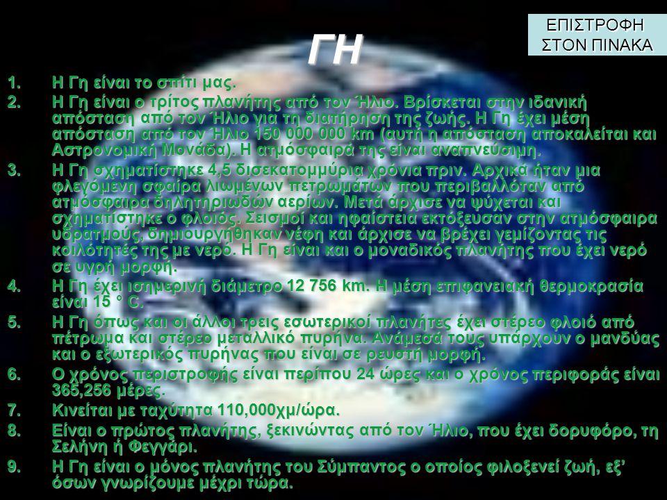 ΑΦΡΟΔΙΤΗ 1.Η 1.Η Αφροδίτη έχει σχεδόν το ίδιο μέγεθος με τη Γη για αυτό αποκαλείται και «δίδυμη αδελφή» της Γης.