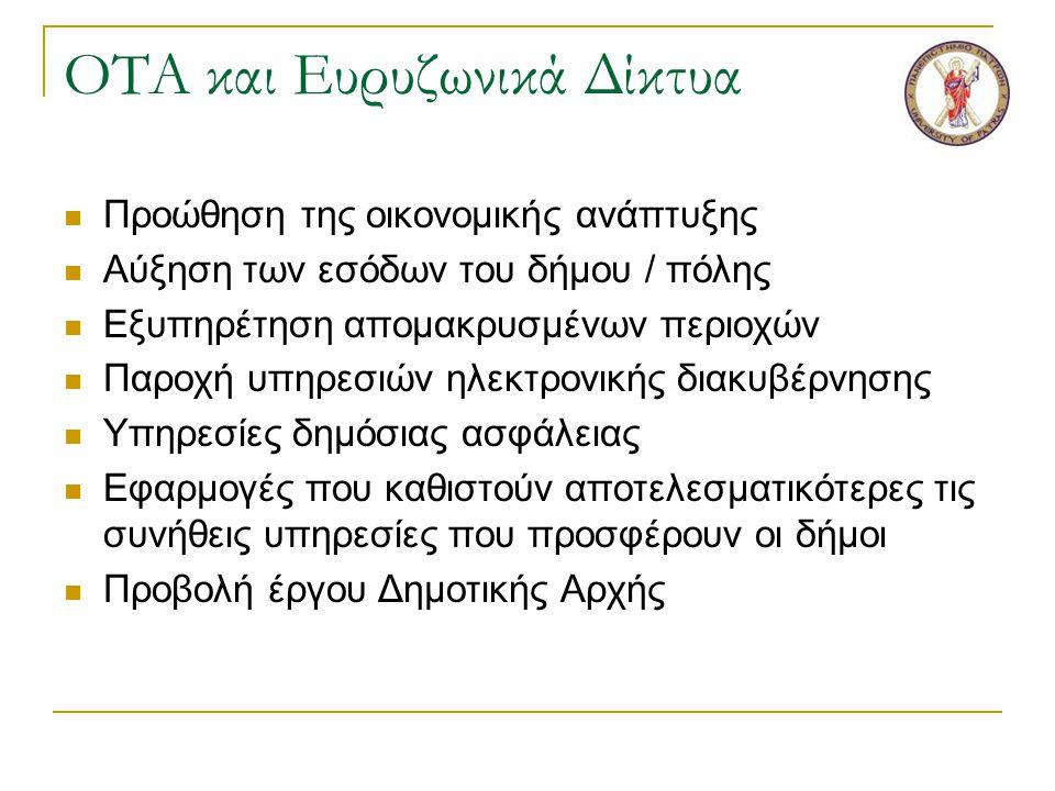 Ευρυζωνικά Μητροπολιτικά Δίκτυα Οπτικών Ινών στη Νοτιοδυτική Ελλάδα