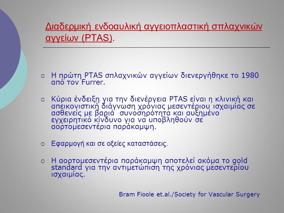 Διαδερμική ενδοαυλική αγγειοπλαστική σπλαχνικών αγγείων (PTAS).